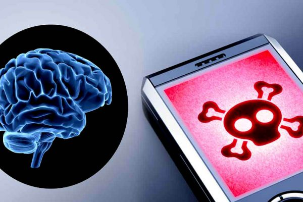 تاثیر منفی امواج موبایل تاثیرات منفی موبایل تاثیرات منفی امواج خطرناک موبایل بر تومور های قلبی و مغزی اثبات شد cellphone toxic brain fb 600x400